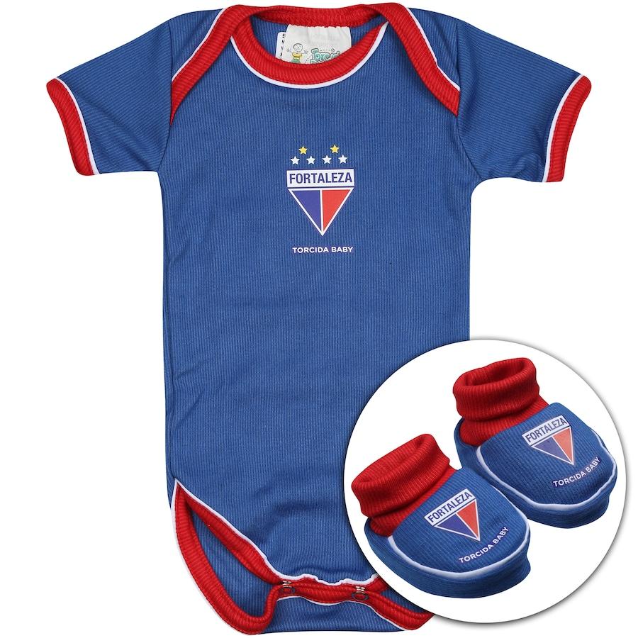 bf34693a8b Kit Uniforme Futebol Fortaleza para Bebê  Body + Pantufa