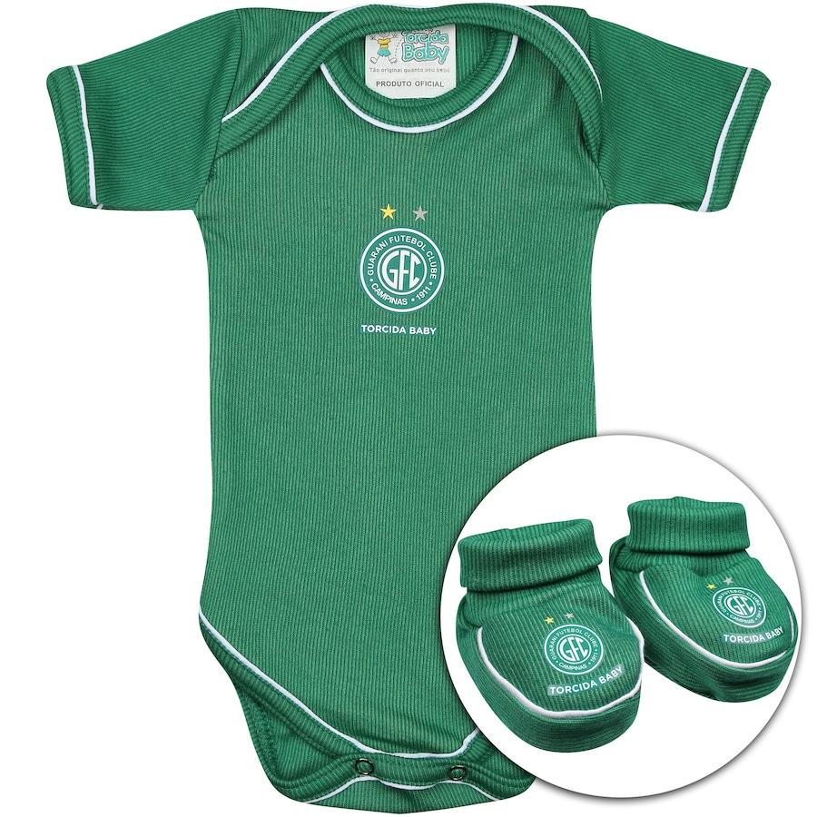 638918988a Kit Uniforme Futebol Guarani para Bebê  Body + Pantufa