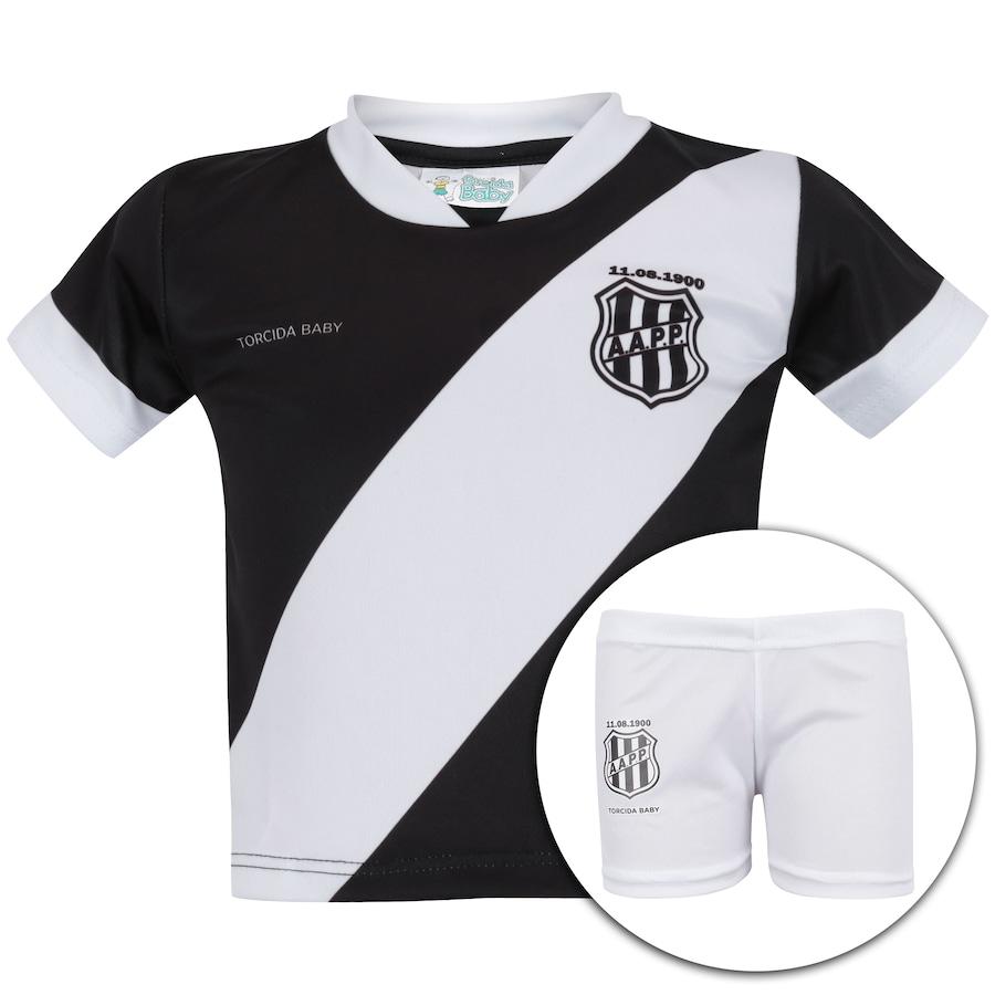 Kit Uniforme Futebol Ponte Preta para Bebê - Infantil ee48a0e27e82e
