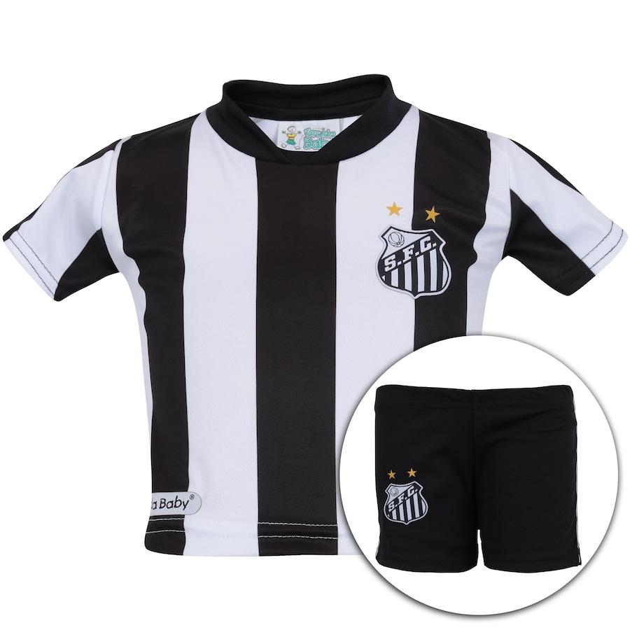 Kit Uniforme Futebol Santos para Bebê - Infantil 15d59c751d286