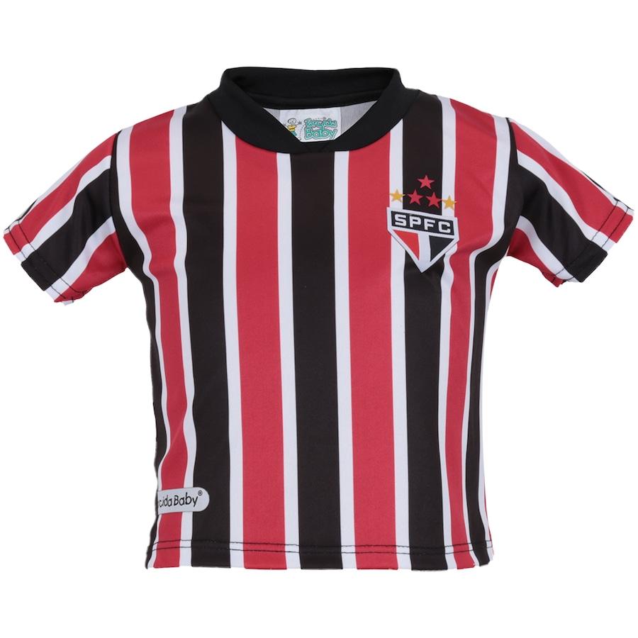 458c7bac6b Kit de Uniforme de Futebol do São Paulo para Bebê  Camisa + Calção ...