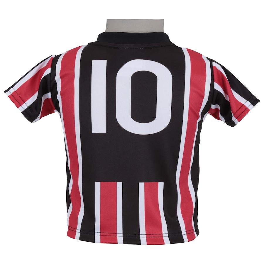 ... Kit de Uniforme de Futebol do São Paulo para Bebê  Camisa + Calção ... b9a040f7e985b