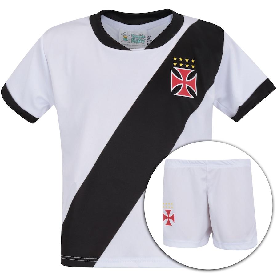 fd6b5b7cc5 Kit Uniforme Futebol Vasco da Gama  Camisa + Calção