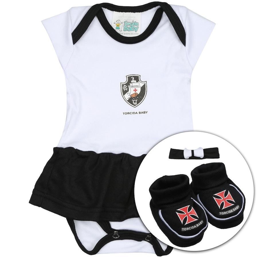Kit Uniforme Futebol Vasco da Gama para Bebê  Body + Pantuf cfc088a60dd5e