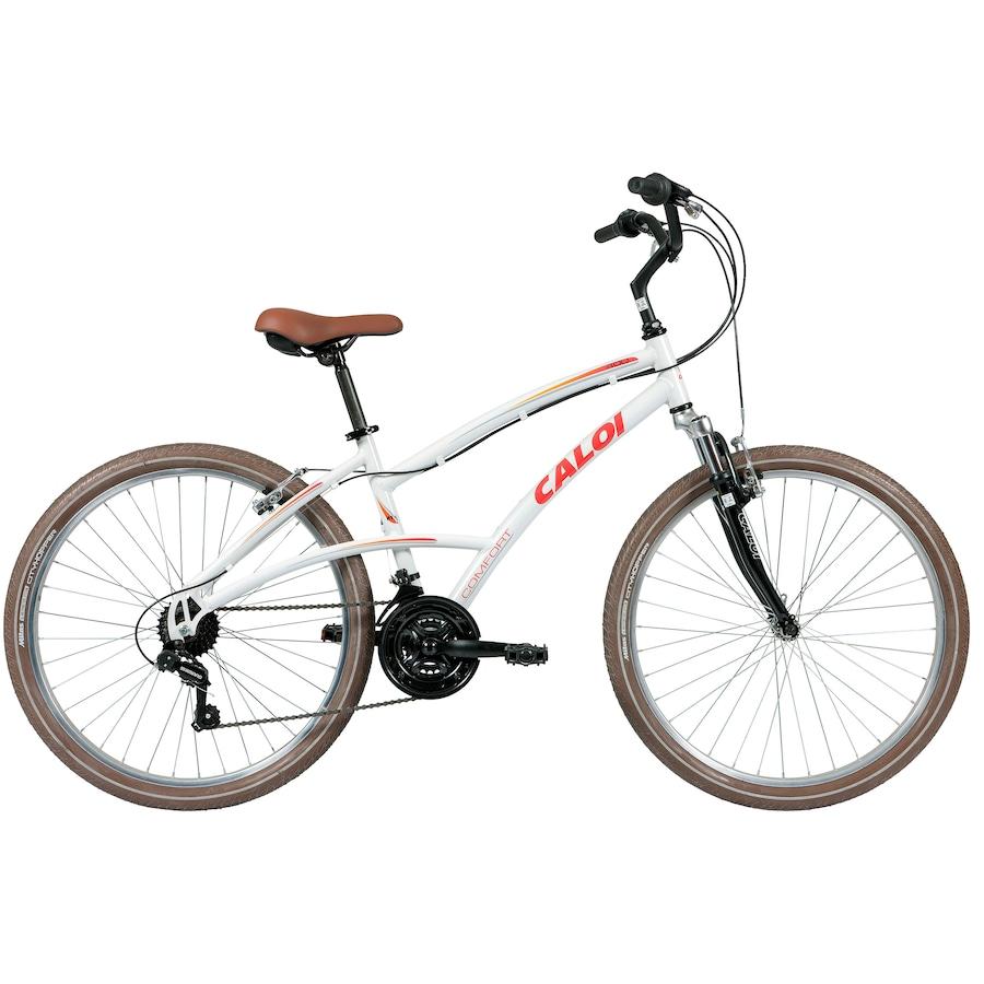 842154b9a Bicicleta Caloi 400 - Aro 26 - Freio V-Brake - Câmbio Traseiro Shimano TZ -  21 Marchas - Feminina