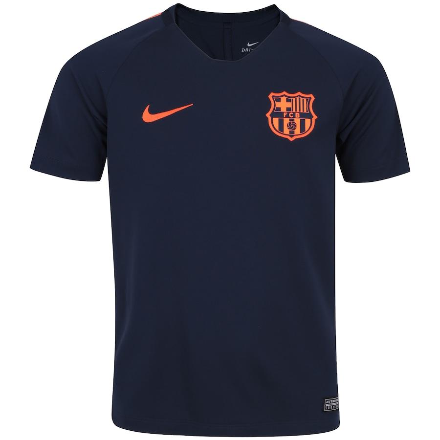 ec32aae2e728b Camisa de Treino Barcelona 17 18 Nike com Patrocínio - Infantil