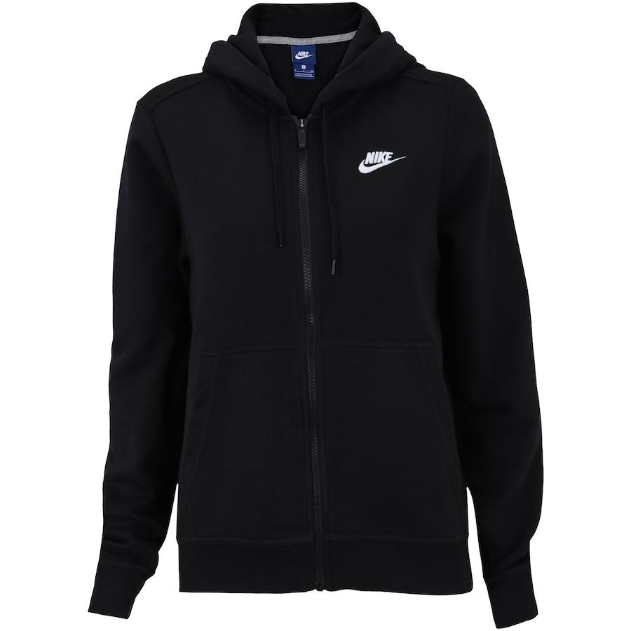 d4581acca4 Jaqueta de Moletom com Capuz Nike Sportswear Hoodie FZ FLC - Feminina