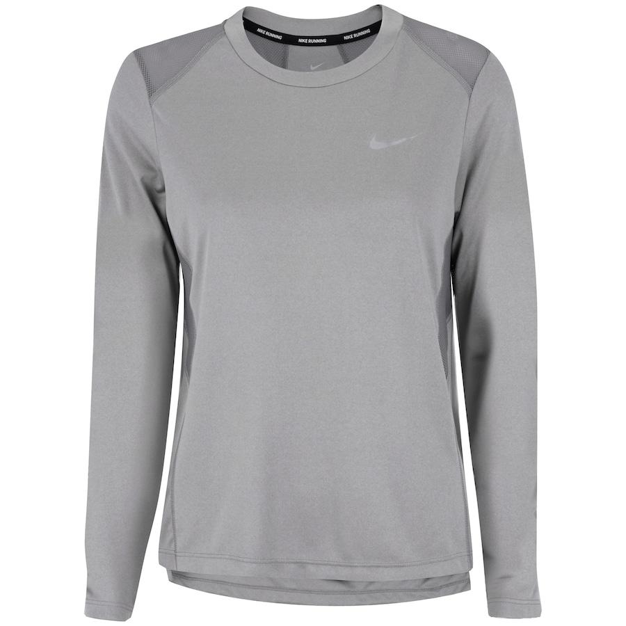 Camiseta Manga Longa Nike Miler LS - Feminina  3444d14558623