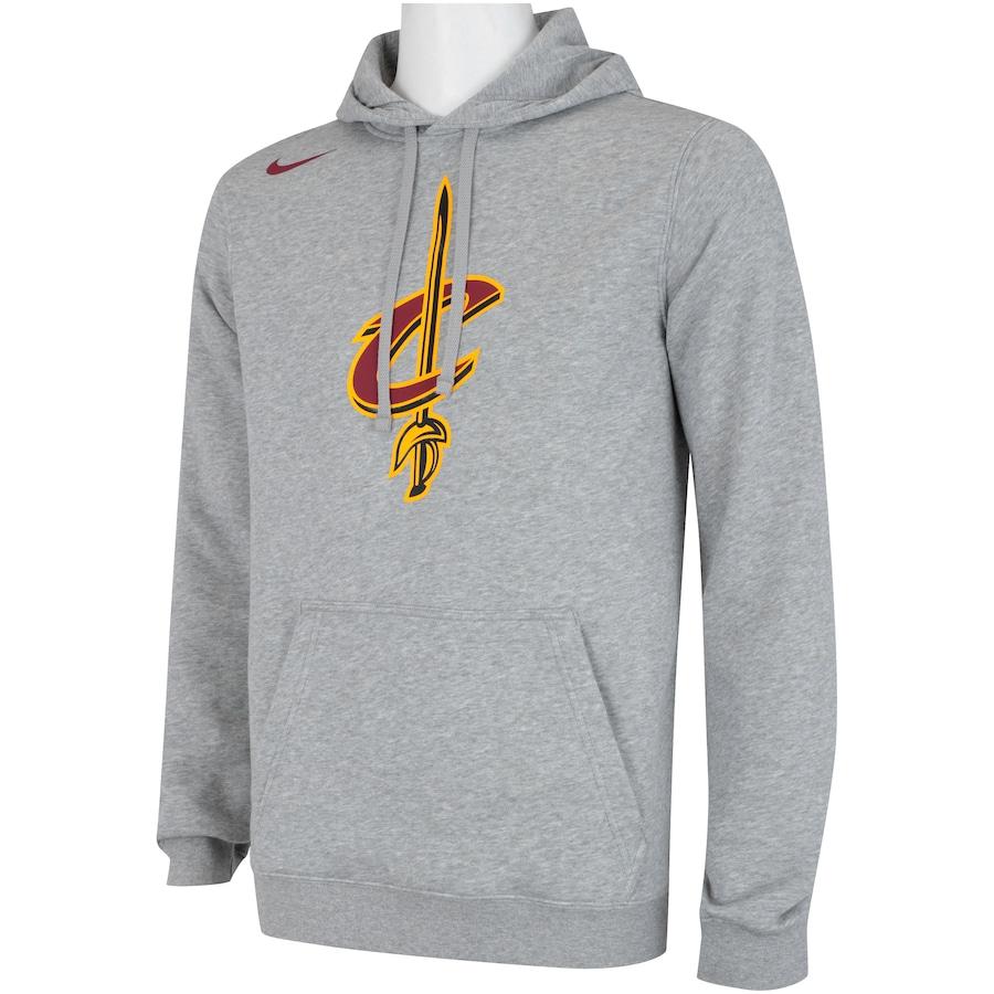 Blusão de Moletom com Capuz Nike NBA Cleveland Cavaliers Heather - Masculino 2d315aec9a35f