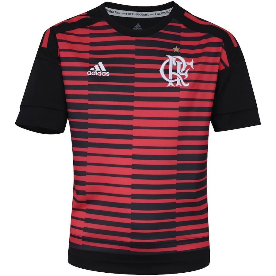 Camisa Pré-Jogo do Flamengo 2018 adidas - Infantil b0fff08341d2b