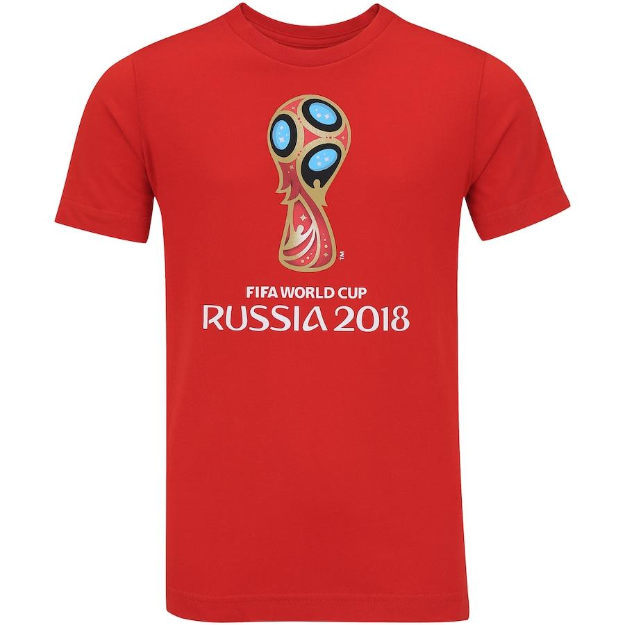 Camiseta adidas Logo da Copa do Mundo FIFA 2018 - Infantil 338219b7a0b66