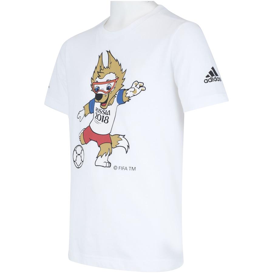 d209923431ba5 Camiseta adidas Mascote da Copa do Mundo FIFA 2018 - Infantil