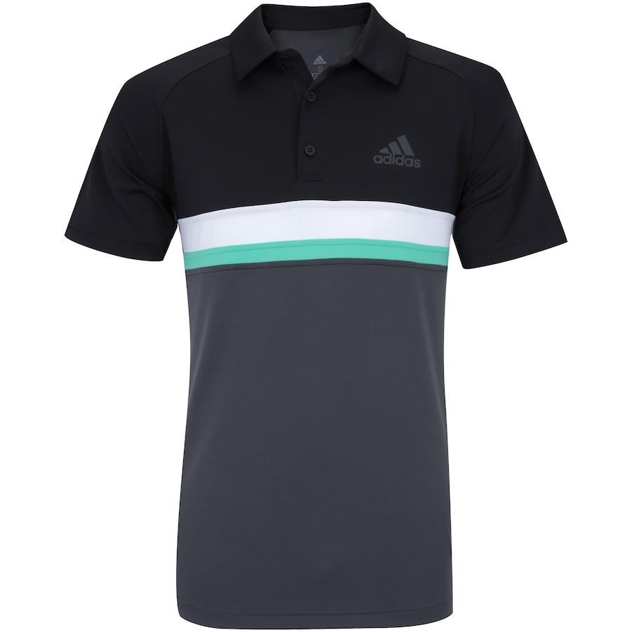 47c5b1bfeed4b ... Camisa Polo com Proteção Solar UV adidas Club Colorblock TD - Masculina.  Imagem ampliada ...
