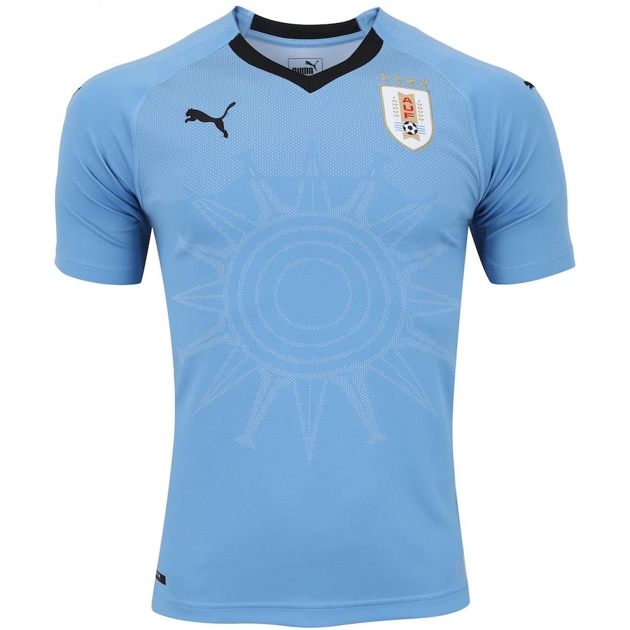 Camisa Uruguai I 2018 Puma - Masculina 41e971c000fd2
