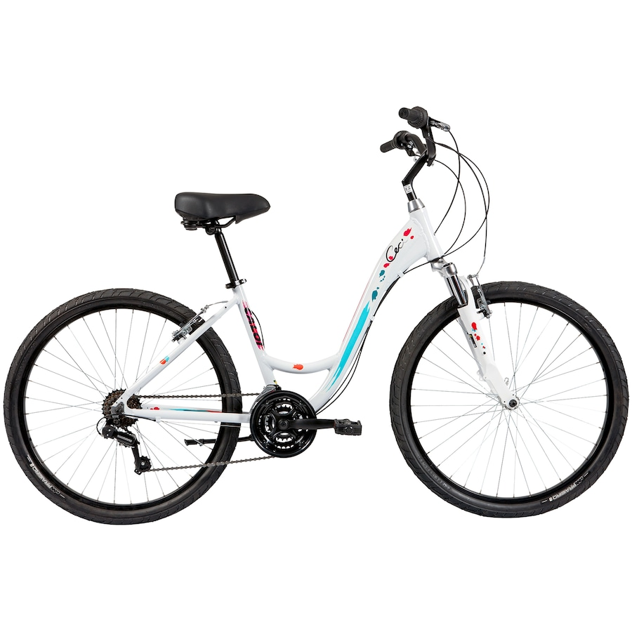 dedc1db0b Bicicleta Caloi Ceci - Aro 26 - Freio V-Brake - Câmbio Shimano - 21 Marchas  - Feminina