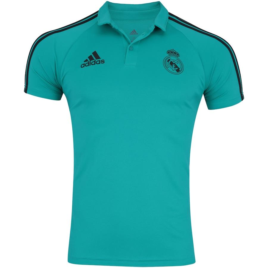 Camisa Polo Real Madrid Viagem 17 18 adidas - Masculina 4660b8e964c49