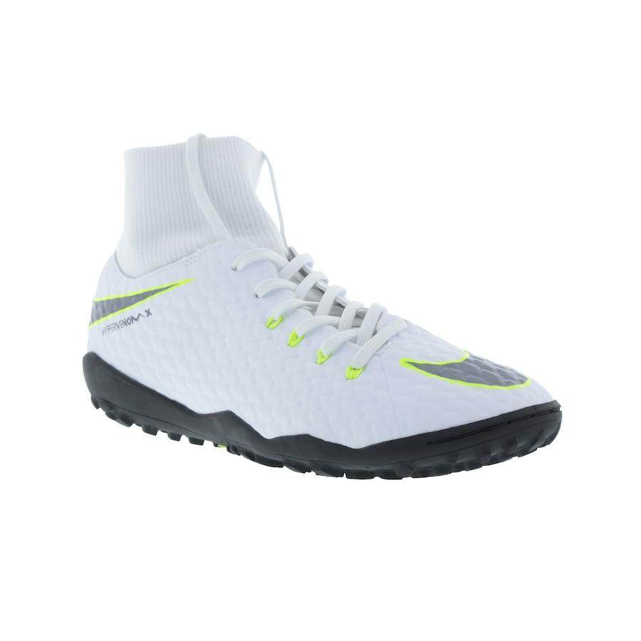 3420a3174f4 Chuteira Society Nike Hypervenom Phantom X 3 Academy DF TF
