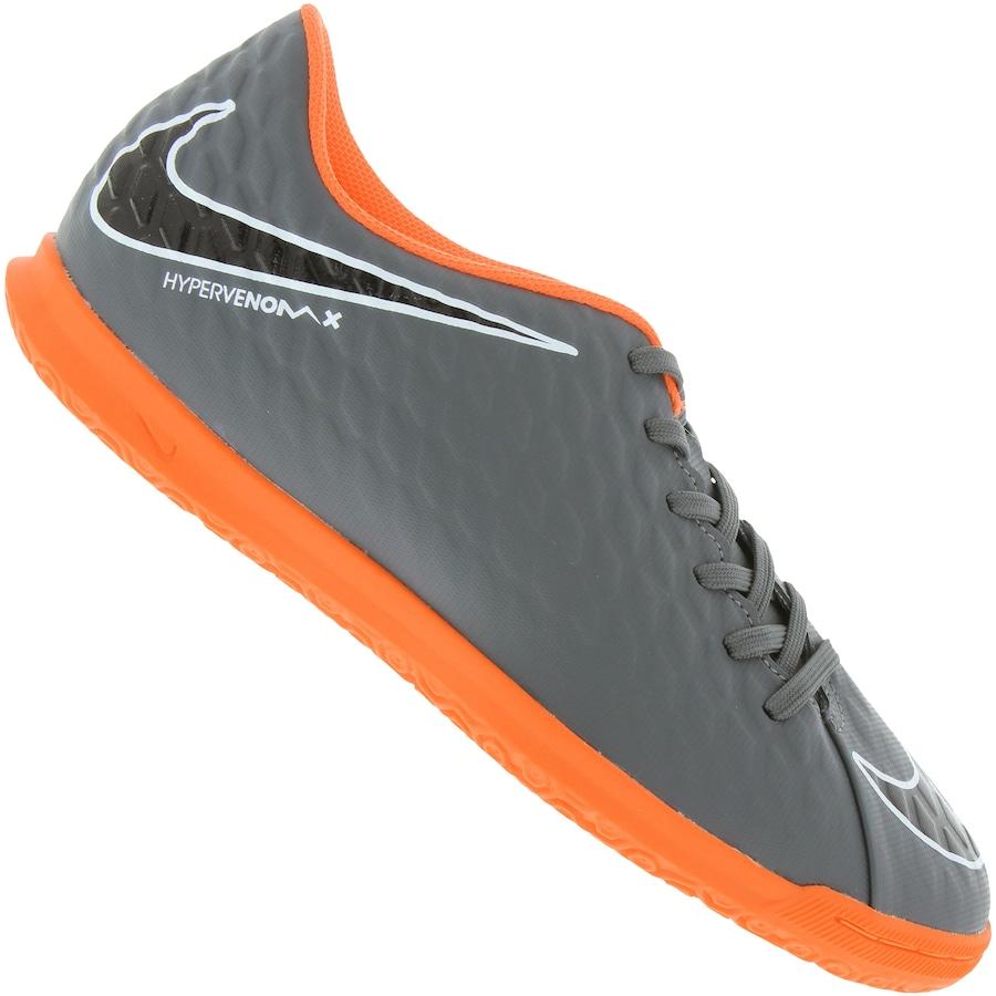 Chuteira Futsal Nike Hypervenom Phantom X 3 Club IC Adulto 032ea96462486