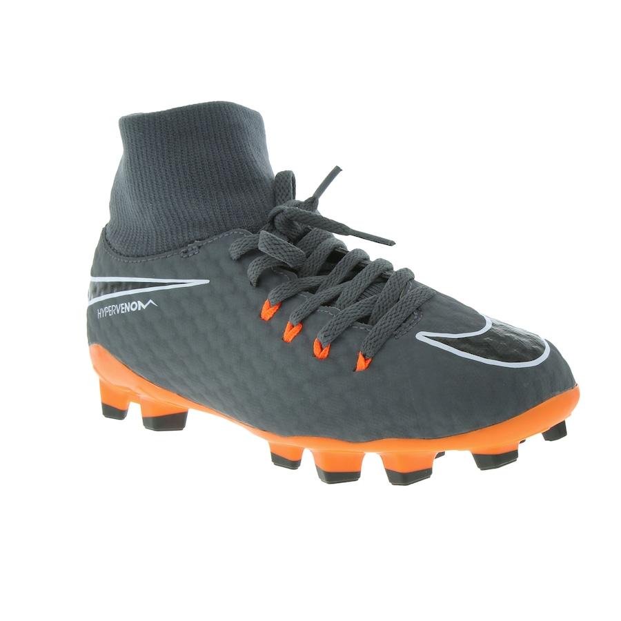 ... Chuteira de Campo Nike Hypervenom Phantom 3 Academy DF FG - Infantil ... f8d0e5bd33f27