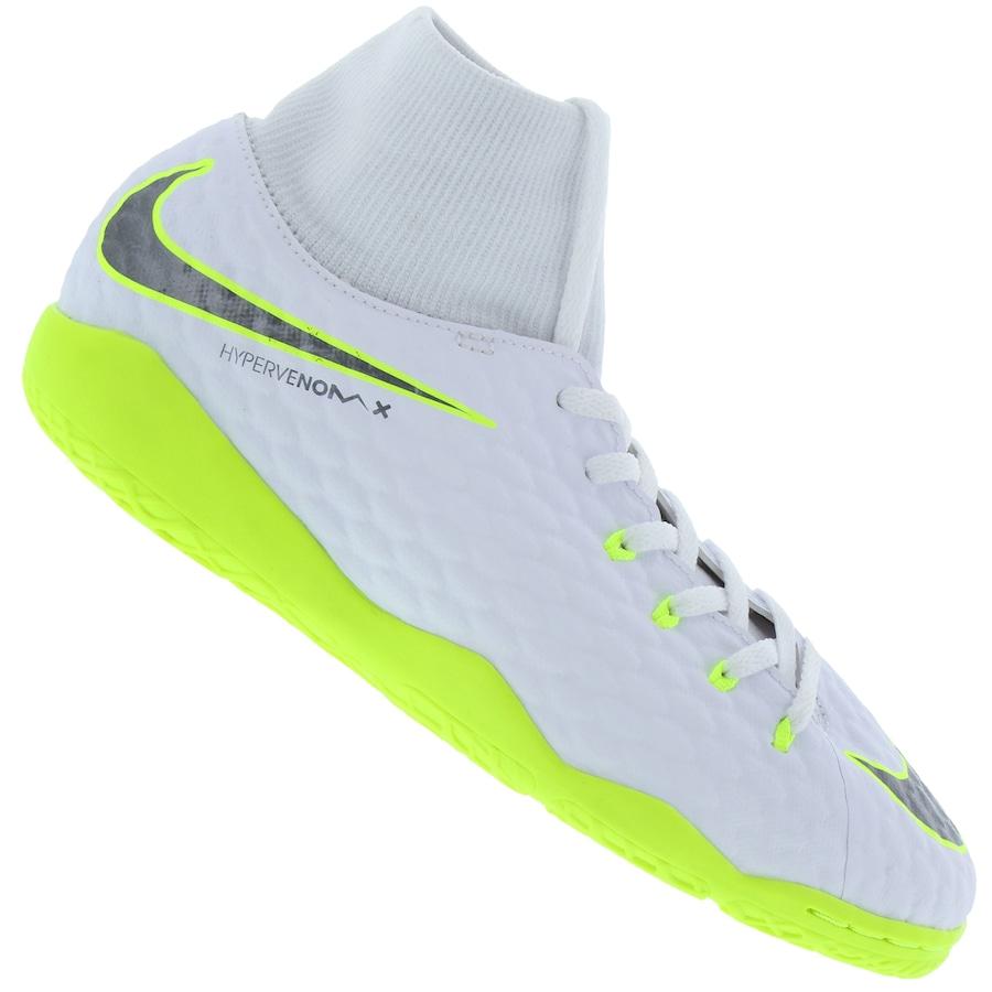 Chuteira Futsal Nike Hypervenom Phantom X 3 Academy DF IC - Infantil d59856986a8c1