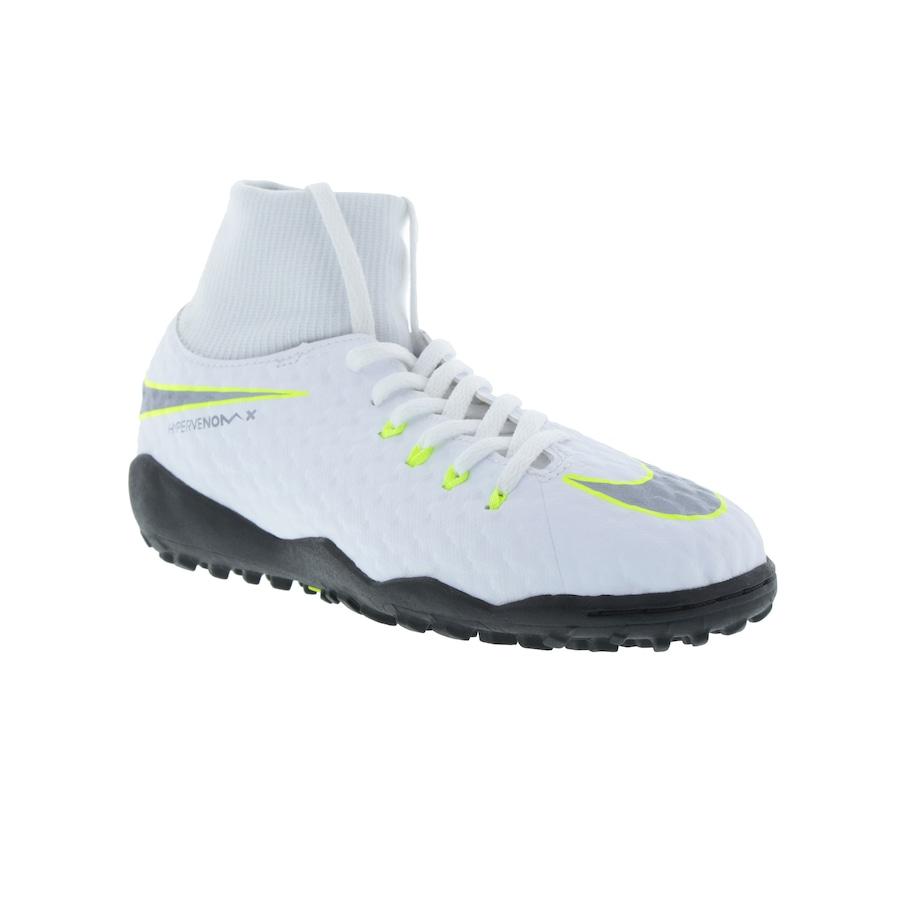 ... Chuteira Society Nike Hypervenom Phantom X 3 Academy DF TF - Infantil  ... 2ba4e886a065e