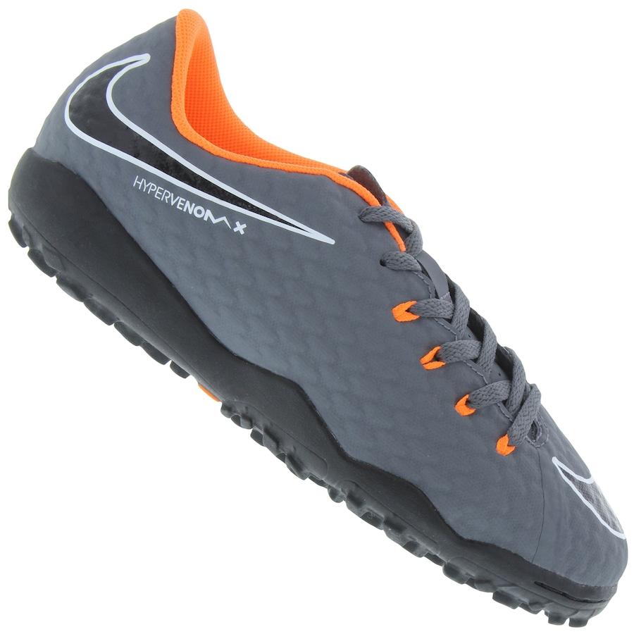 57262d2229 Chuteira Society Nike Hypervenom Phantom X 3 Academy TF - Infantil.  undefined