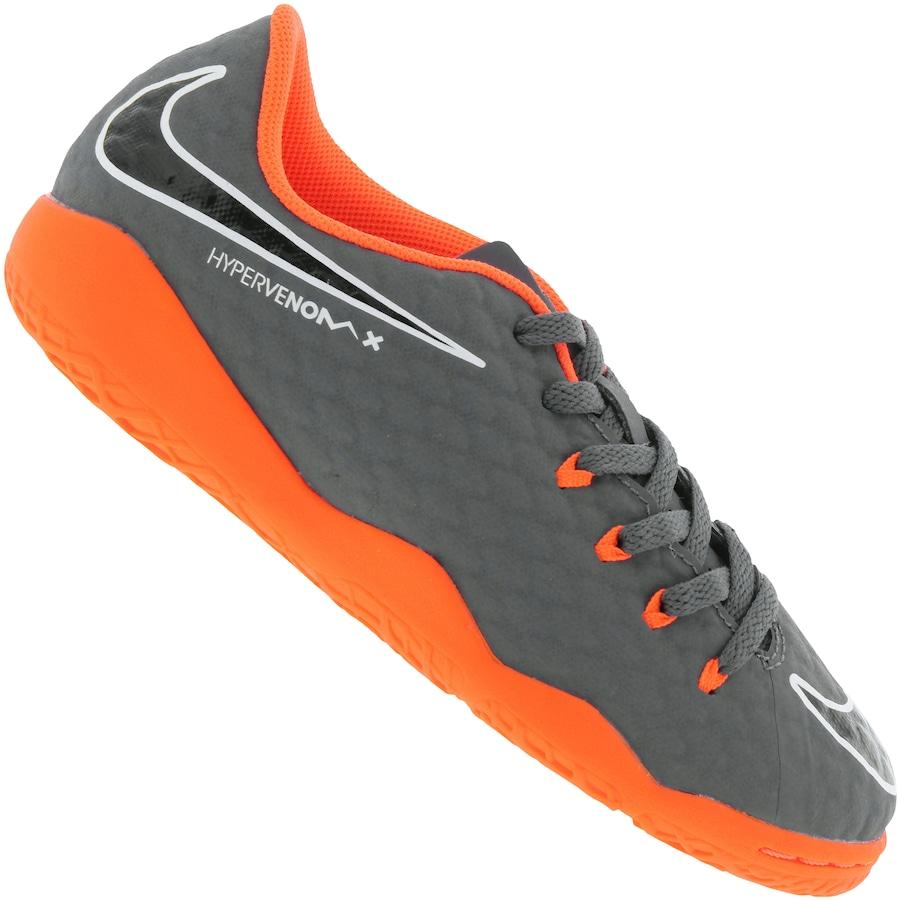 Chuteira Futsal Nike Hypervenom Phantom X 3 Academy IC - Infantil e5632ec3e9a6b