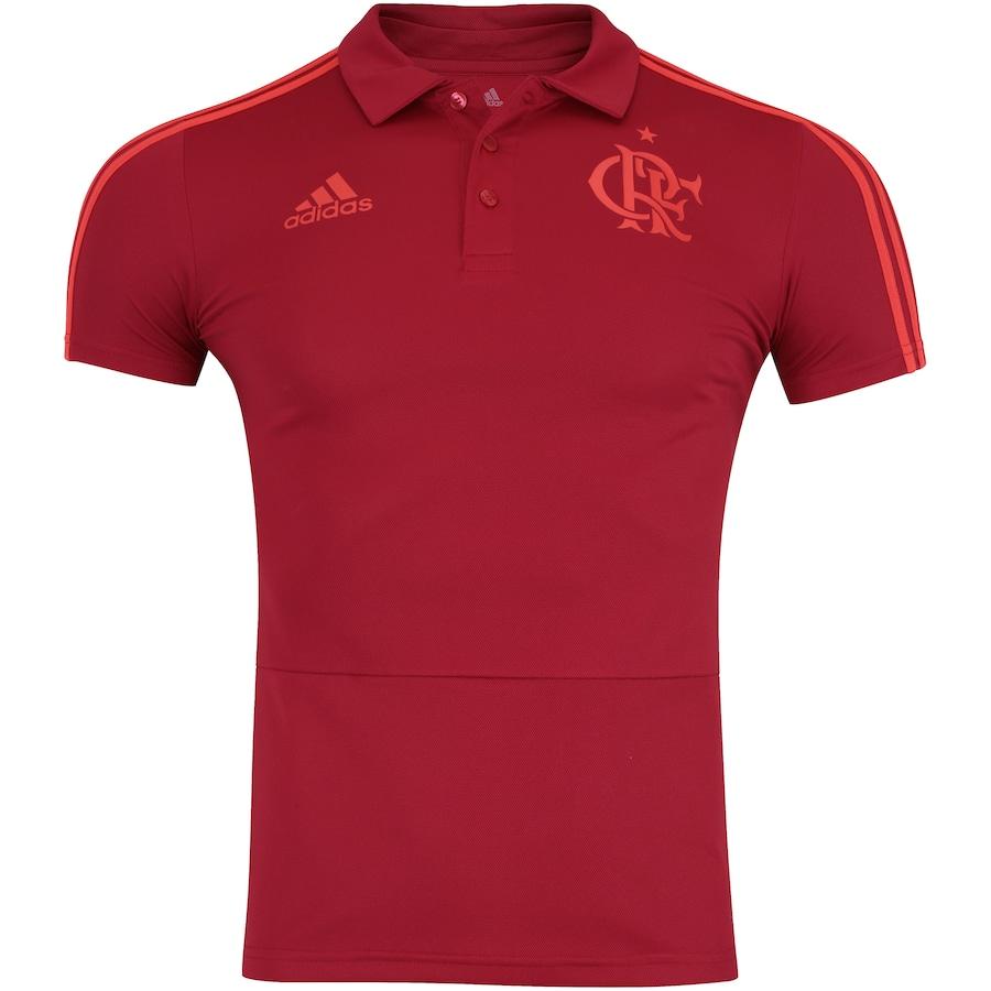 Camisa Polo do Flamengo Viagem 2018 adidas - Masculina ca1036822b077