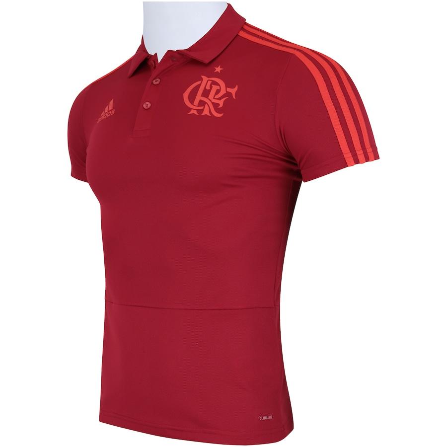 47928cb3026b6 Camisa Polo do Flamengo Viagem 2018 adidas - Masculina