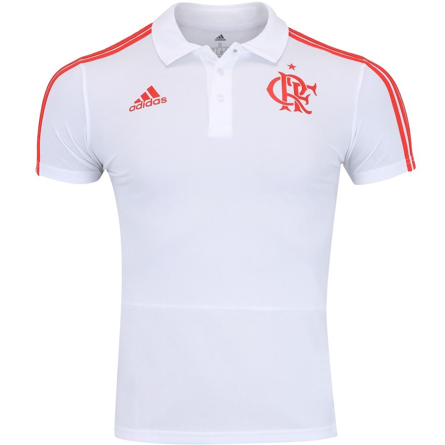 Camisa Polo do Flamengo Viagem 2018 adidas - Masculina 29827756df3