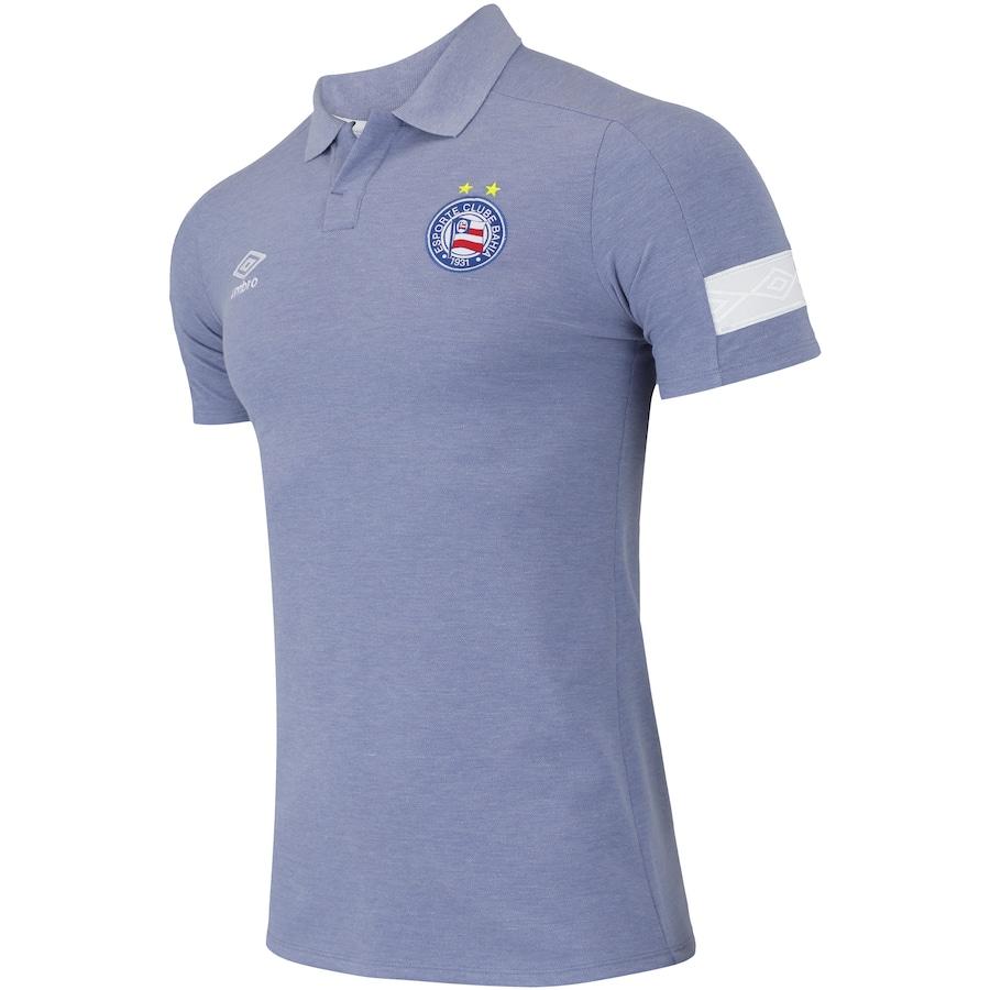 Camisa Polo do Bahia Viagem 2018 Umbro - Masculina 56d6f999bc75c