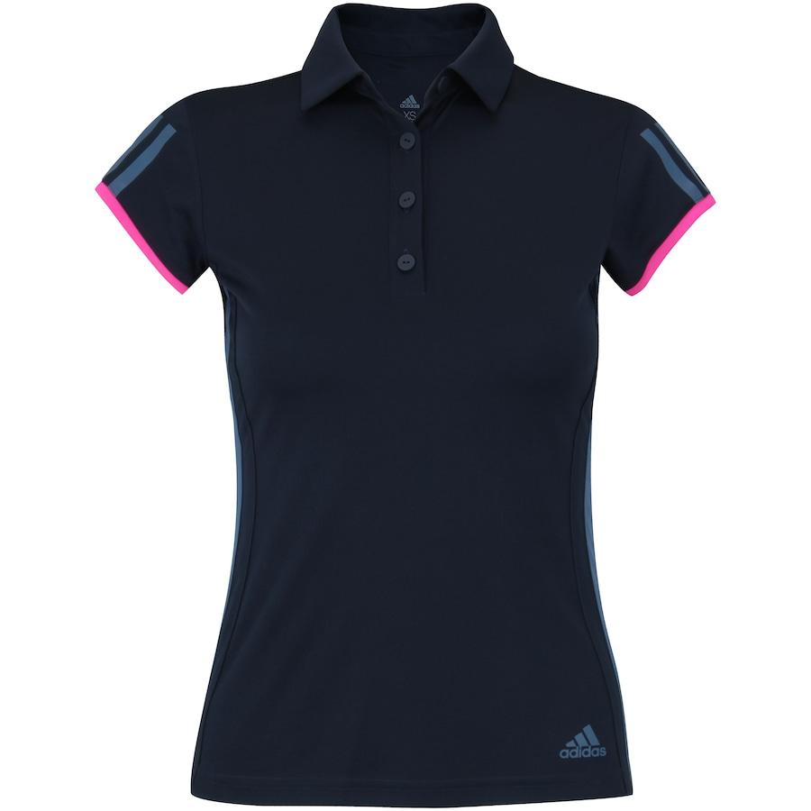 34a983c5fa Camisa Polo com Proteção Solar UV adidas Club 3STR - Feminina