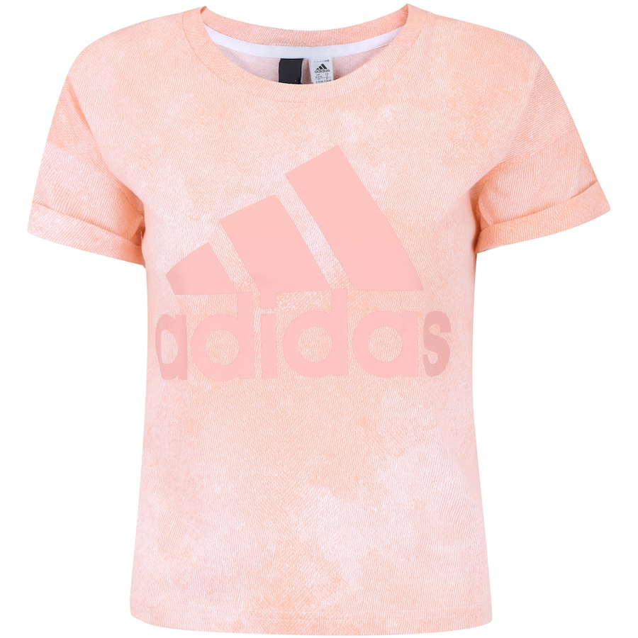 cb093916801b0 Camiseta adidas Ess AOP - Feminina