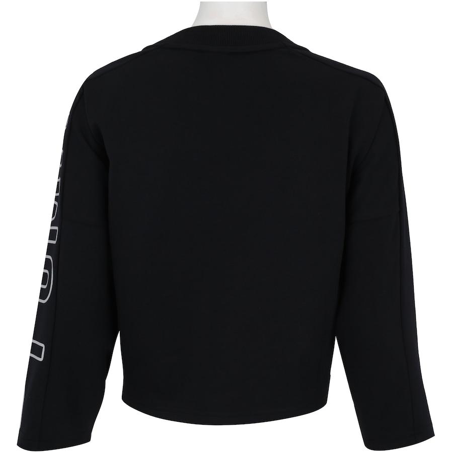 7df6b128c0 Blusa Cropped Manga 7 8 Puma Fusion Sweatshirt - Feminina