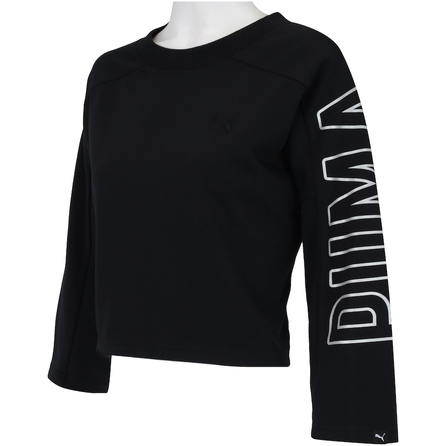 Blusa Cropped Manga 7 8 Puma Fusion Sweatshirt - Feminina e6c2f53b6fd03