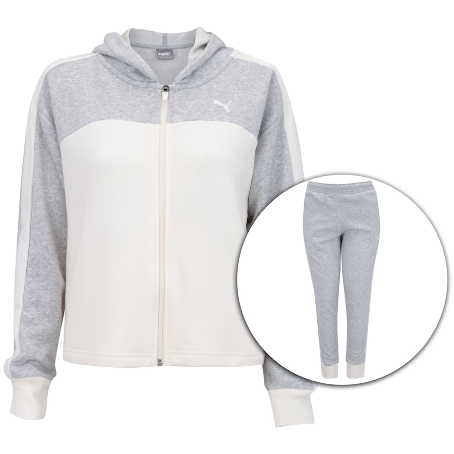 907269ccfa0 Agasalho de Moletom com Capuz Puma Prime Sweat Suit CL - Feminino