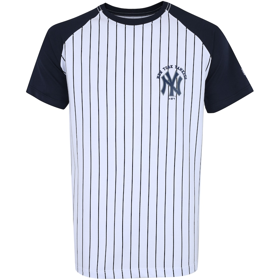 Camiseta New Era New York Yankees Raglan Core 3 - Masculina c46b838fdeaed