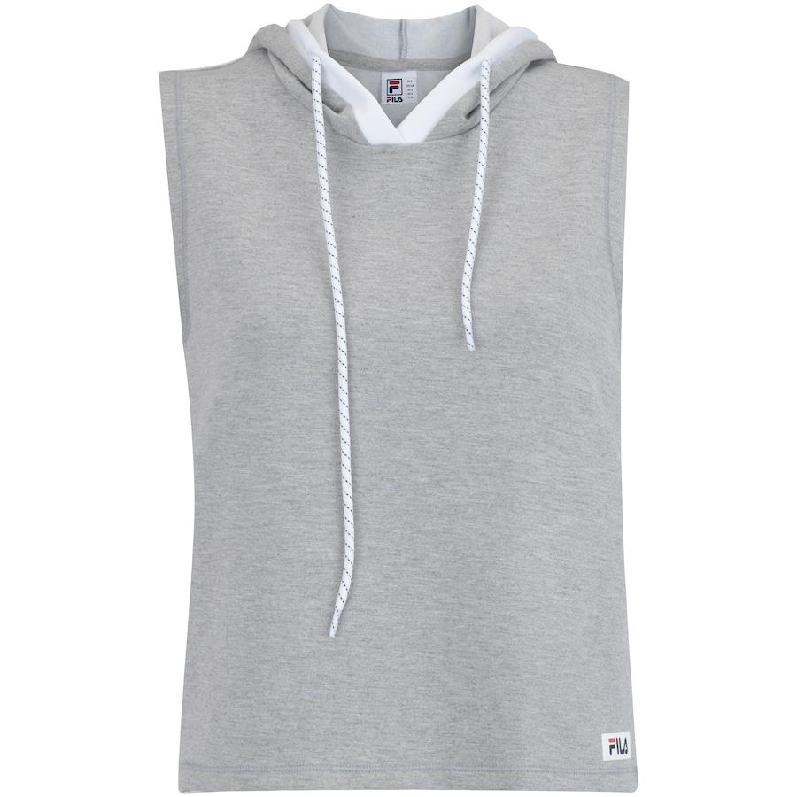 6d94797c6d8 Camiseta com Capuz Estilo Colete Fila Vest Athenas - Feminina