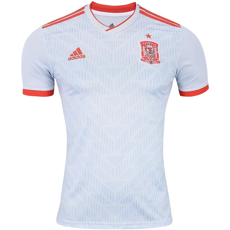 Camisa Espanha II 2018 adidas - Masculina b94e3acf19643