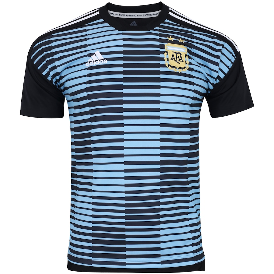 Camisa Pré-Jogo Argentina 2018 adidas - Masculina 81aebd89664c9