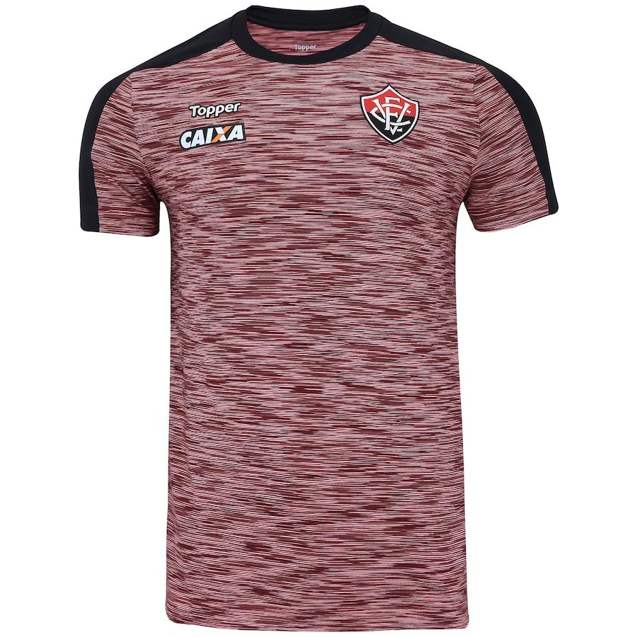 1686555e0dd26 Camisa do Vitória Concentração Atleta 2018 Topper - Masculina