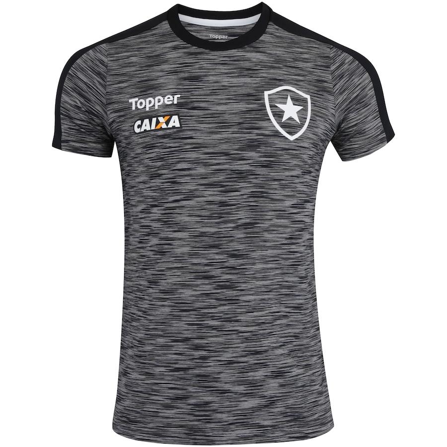 b0fc76aa79046 Camisa do Botafogo Concentração Atleta 2018 Topper - Masculina
