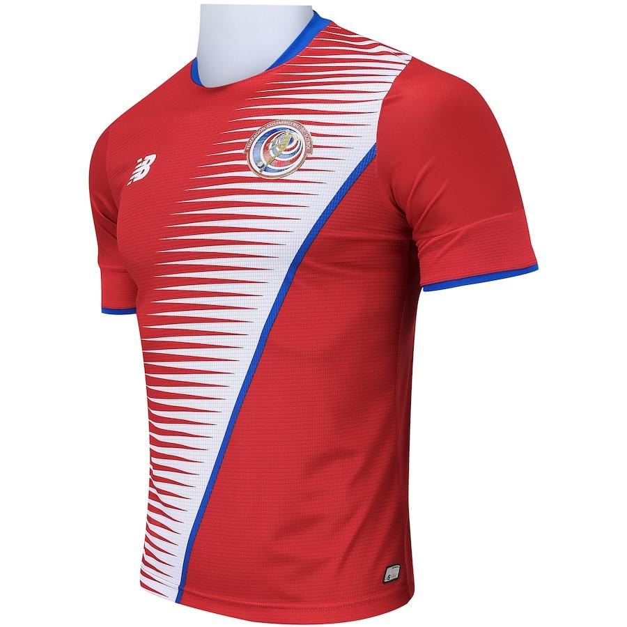 Camisa Costa Rica I 2018 New Balance - Masculina 4f8ef61015c80