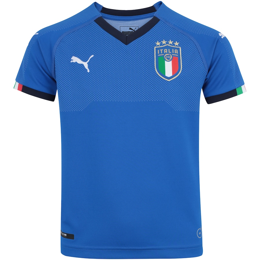 30cac28139 Camisa Itália I 2018 Puma - Infantil