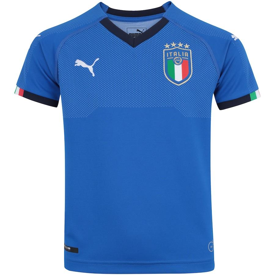 79c25f6dd2 Camisa Itália I 2018 Puma - Infantil