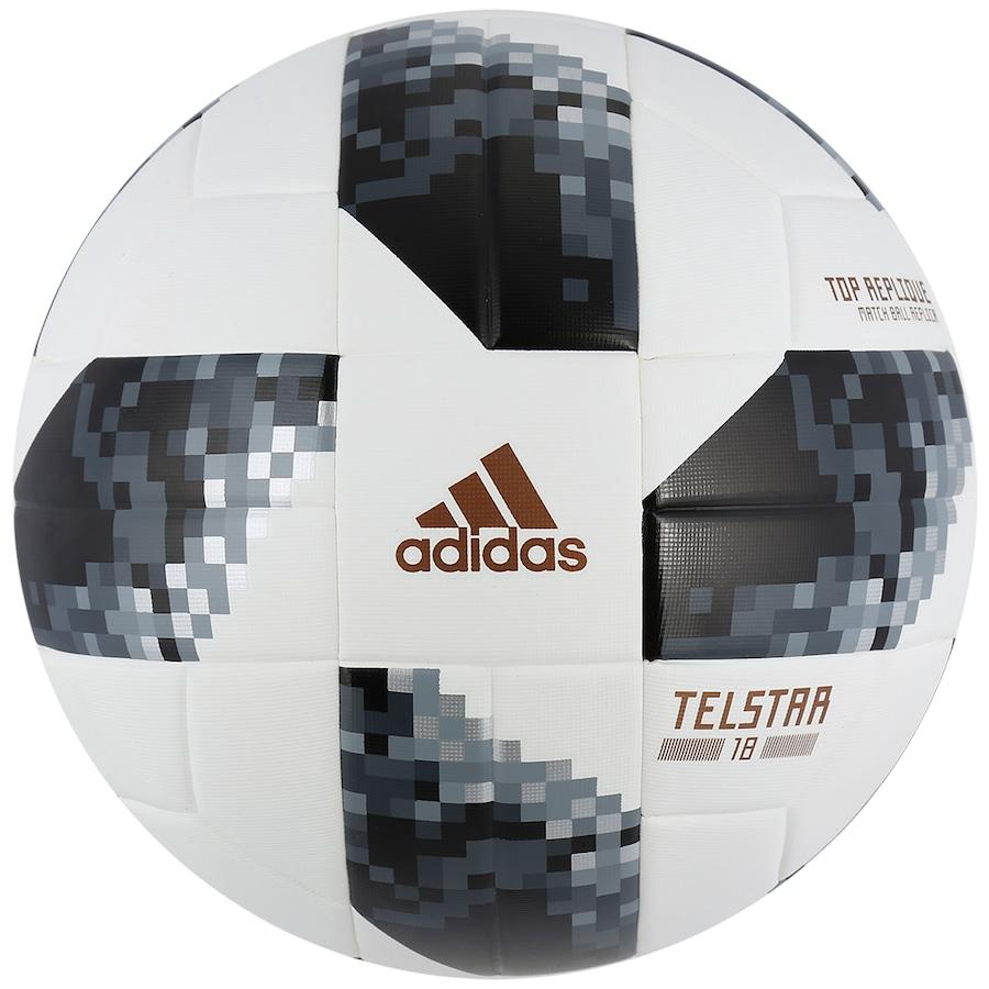 Bola de Futebol de Campo Telstar Oficial Copa do Mundo FIFA 2018 adidas Top  Replique 257e9a0c7f834