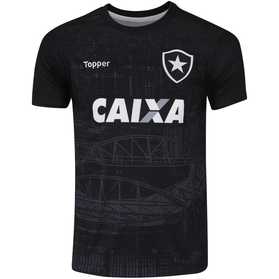 19b1c54c78 Camisa do Botafogo Aquecimento 2018 Topper - Infantil