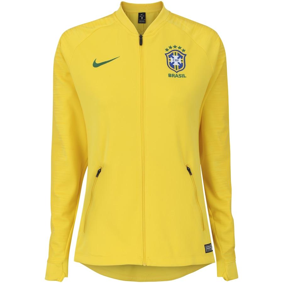 d81f725080cd1 Jaqueta da Seleção Brasileira 2018 Hino Nike - Feminina