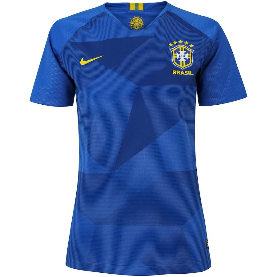 Camisa da Seleção Brasileira II 2018 Nike - Feminina 601ec817e7676
