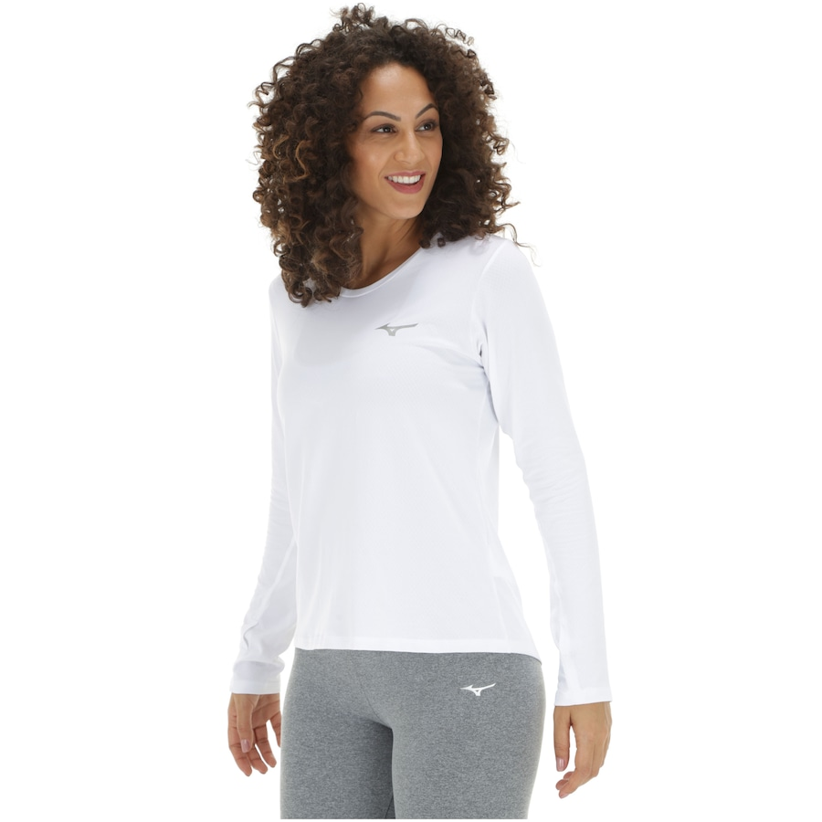 763f5d4fa Camiseta Manga Longa com Proteção Solar UV Mizuno Pro - Feminina